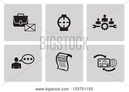 SEO internet marketing icons in minimalist style