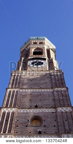 Frauenkirche tower, landmark of Munich in Germany