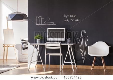 Blackboard Paint Flat Design