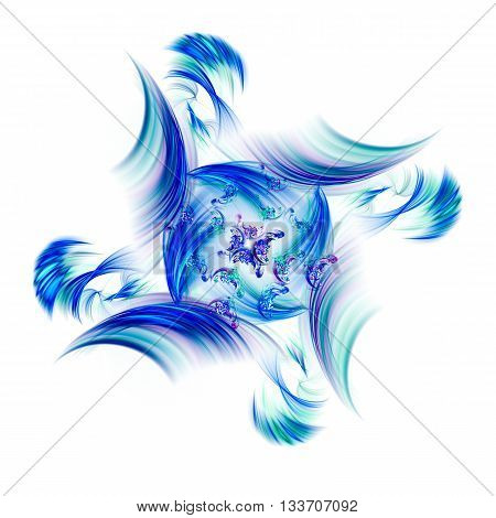 Rotation of the small universe. 3D illustration. Sacred geometry. Mysterious psychedelic relaxation wallpaper. Fractal abstract pattern. Digital artwork creative graphic design.