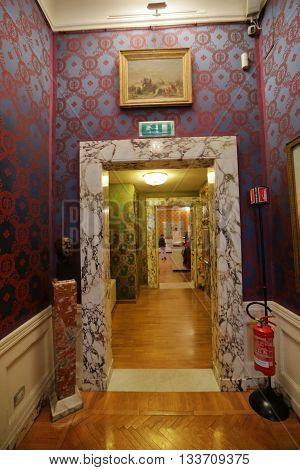 Interior Of The La Scala Museum, Milan, Italy