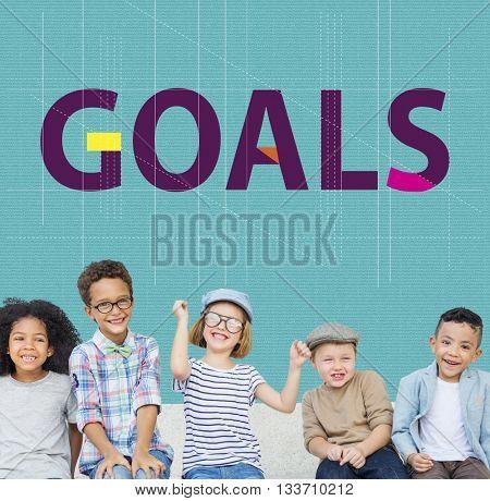 Goals Ideas Aspiration Dreams Graphic Concept