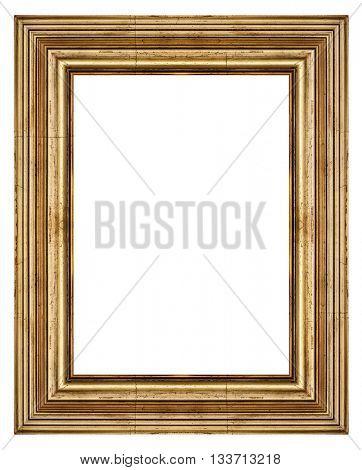 Vintage frame isolated on white background