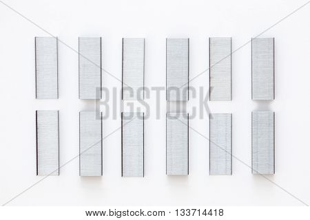 Group Of Staples Lined Up