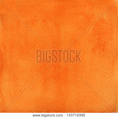 vivid flat plain intense orange watercolor abstract background