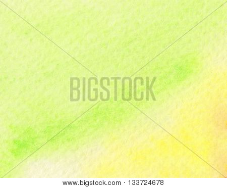 faded yellow green light tones watercolor background
