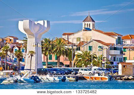 Adriatic town of Vodice view tourist destination in Dalmatia Croatia