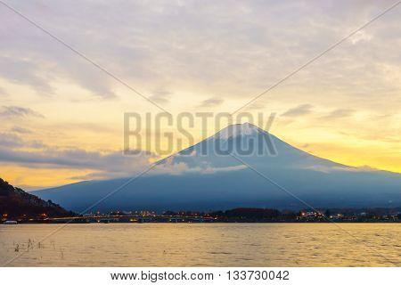Mount Fuji sunset, Japan