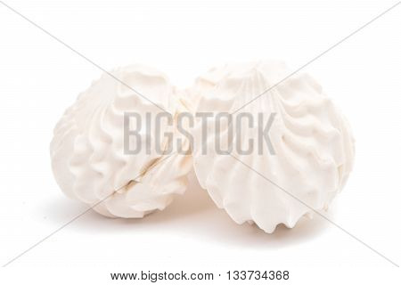dessert souffle marshmallows isolated on white background