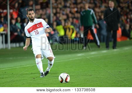 PRAGUE 10/10/2015 _ Arda Turan. Match of the EURO 2016 qualification group A Czech Republic - Turkey