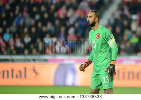 PRAGUE 10/10/2015 _ Volkan Babacan. Match of the EURO 2016 qualification group A Czech Republic - Turkey