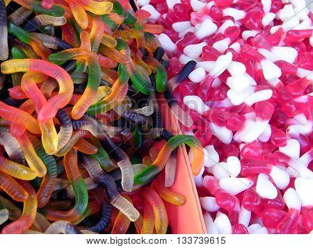 Fruit jelly on bazaar in Tel Aviv Israel