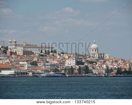 the City of lisbon at the river tagus