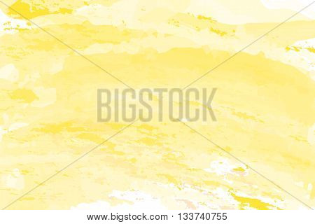 Yellow gradient abstract watercolor style for background