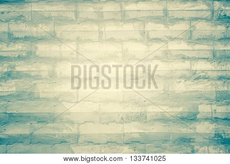 white brick wall texture background / uneven bricks design stack.