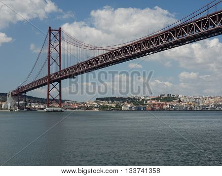 the river tagus in Lissabon at portugal
