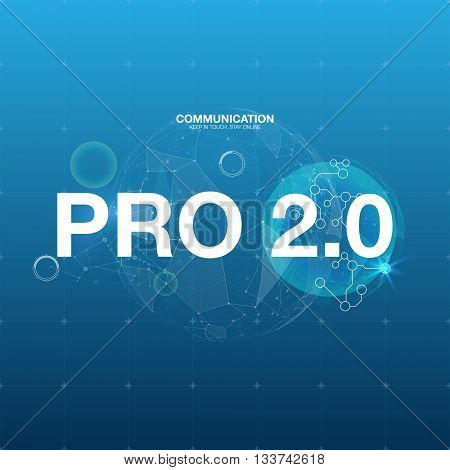 Science abstract vector background. Poster title vector illustration.