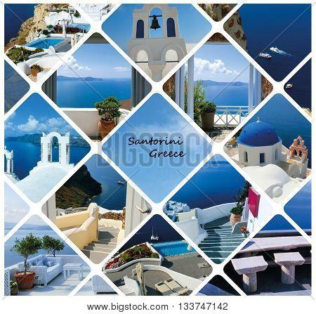 The traditional architecture of Oia village on Santorini island, Greece