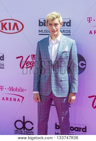 LAS VEGAS - MAY 22 : Singer Nick Hissom attends the 2016 Billboard Music Awards at T-Mobile Arena on May 22 2016 in Las Vegas Nevada.