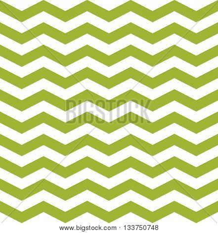 Seamless pattern zig zag. Vector green and white background.