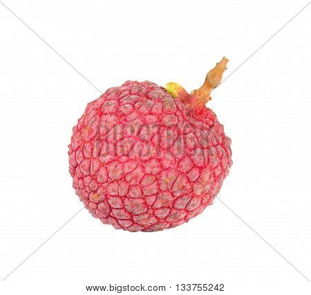 Lychee Or Litchi Isolated On The White