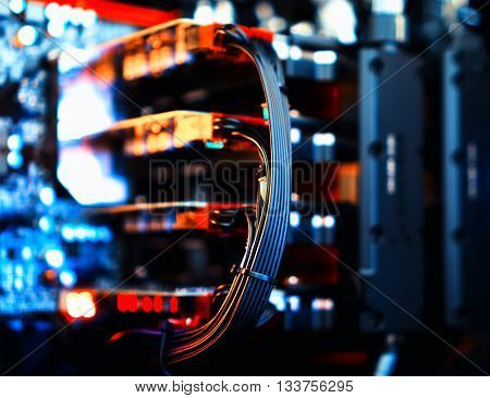 Horizontal vibrant video cards sli bokeh background backdrop