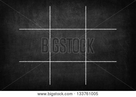 Tic Tac Toe Game - on blackboard
