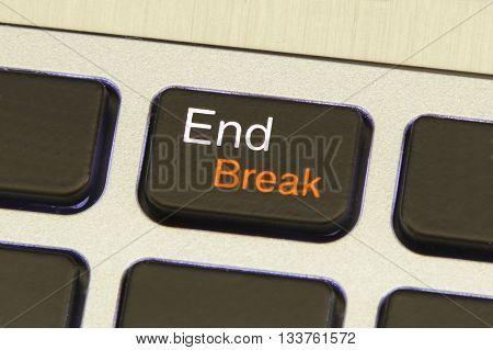 computer end break key safe mode metallic