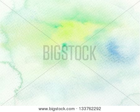 high key light tones green blue watercolor abstract background