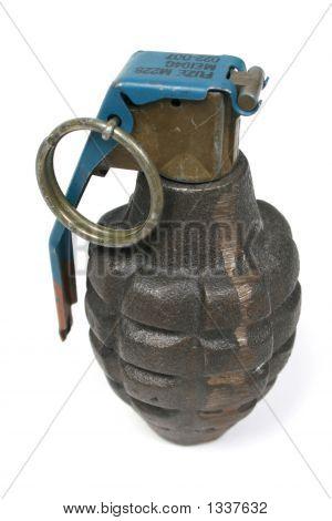 Grenade On White