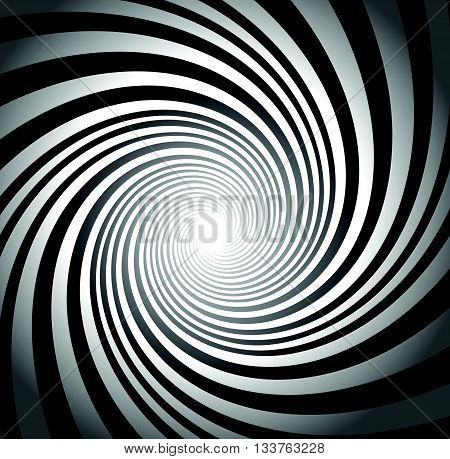 Abstract Twist, Swirl, Rays Radial Stylish Background