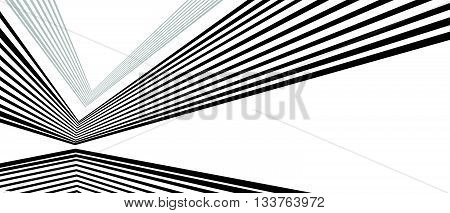 Optical Effect Mobius Wave Stripe Design Movement