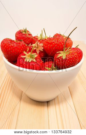 Strawberies In The Bowl