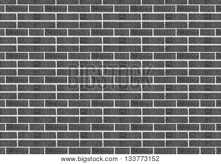 grey balck brick wall for texture background