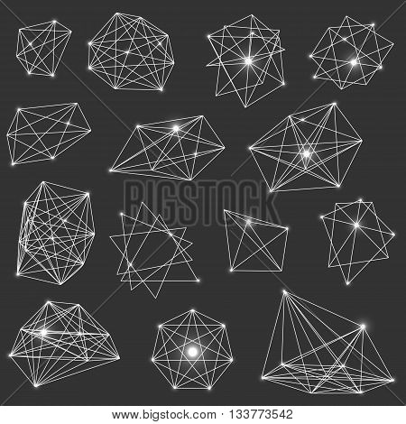Sacred geometry. Alchemy religion philosophy spirituality hipster symbols and elements Set of vector elements