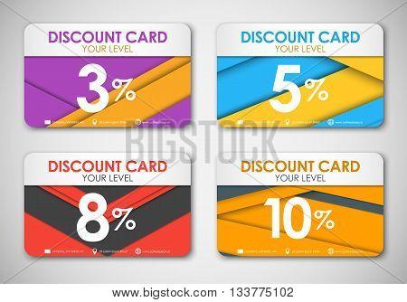 Set Of Discoun Cards