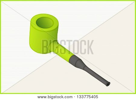 tobacco smoke pipe isometric flat vector 3d illustration