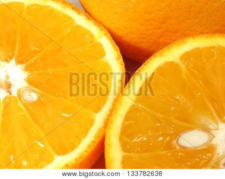 The orange (specifically, the sweet orange) is the fruit of the citrus species Citrus