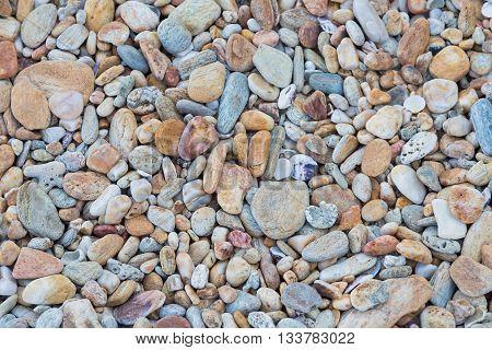 Pebble stone background, natural round sea stone