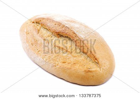 Bread isolated on the a white background.