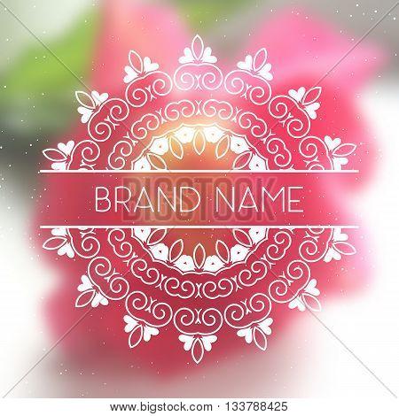 Vector line logo. Geometric mandala for business card invitations. Vector mandala. Geometric circle element. Islam Arabic Indian turkish chinese ottoman motifs