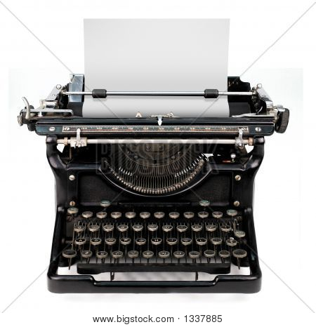 Blank Sheet In A Typewriter