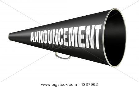 Megafoon aankondiging