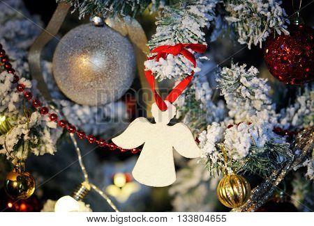 christmas angel close up