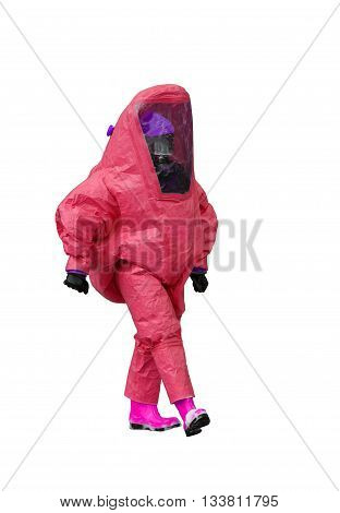 Man With Protective Gear Against Biological Risk
