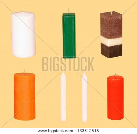 Variety Of Different colored Long Life Candles 04