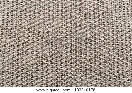 brown wool knitted texture full frame, background