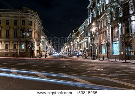 Nevsky Avenue In The Night