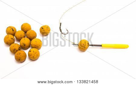 Boilies - Big Carp Fishing Bait isolated on white