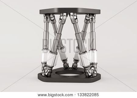 Modular Hexapod System. Hexapod Robot. 3d illustration